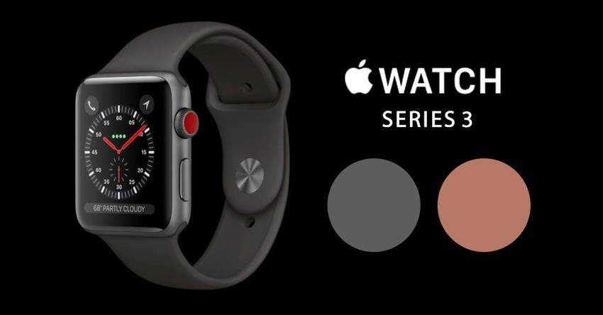 Цвета часов Apple Watch Series 3