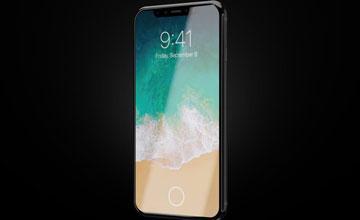 iPhone X на темном фоне